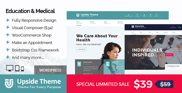 Upside - Multi purpose WordPress theme - Education WordPress