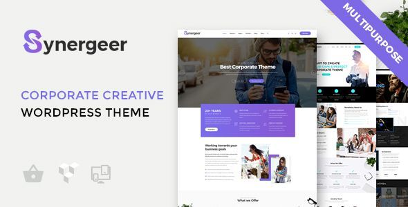 ThemeForest Synergeer Corporate Creative WordPress Theme 20918775