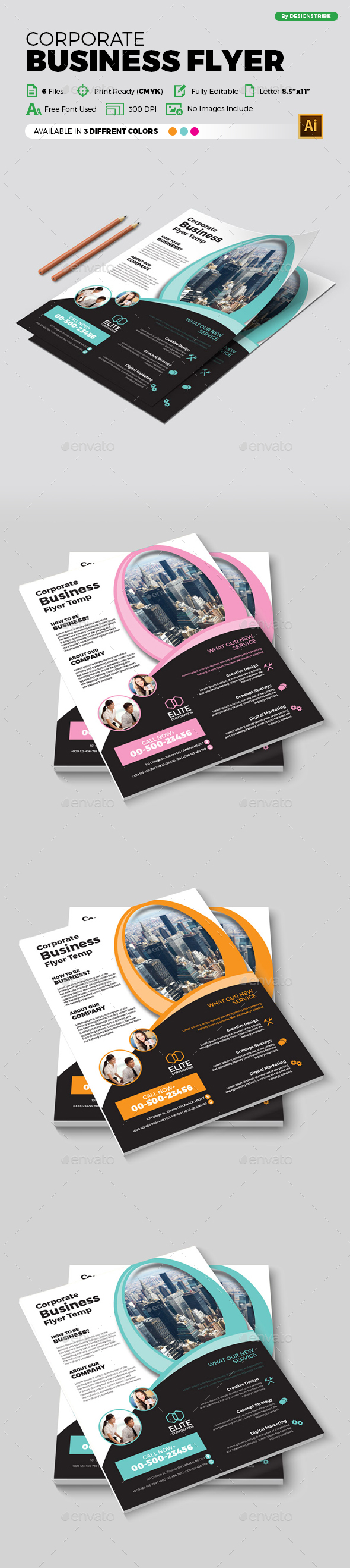 Flyer – Multipurpose 363 - Flyers Print Templates