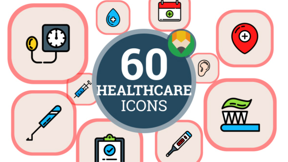 VideoHive Healthcare Management Administrators Icon Set Flat Animated Icons 21241467