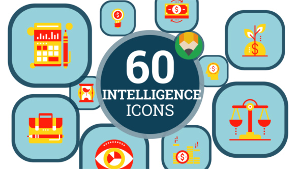 VideoHive Business Intelligence Tools Icon Set Flat Animated Icons 21241473