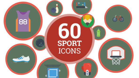 VideoHive Icons Pack Sport Game Competition Fitness Flat Animated Icons 21241476