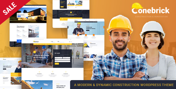 Conebrick – A Masterly WordPress Theme for Construction - Business Corporate