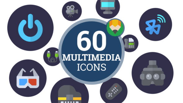 VideoHive Icons Pack Multimedia Device Digital Electronic Flat Animated Icons 21241485