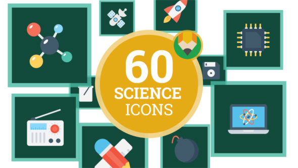 VideoHive Icons Pack Science Technical Knowledge Flat Animated Icons 21241490