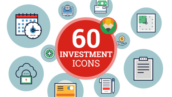 VideoHive Icons Pack Fintech Investment Currency Flat Animated Icons 21241493