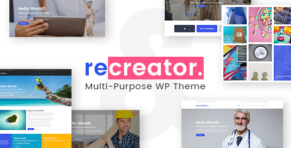 ThemeForest Recreator Creative Multi Purpose WordPress Theme 21210286