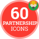 Icons Pack Contract Business Team, Partnership Flat Animated Icons