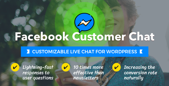 CodeCanyon Facebook Customer Chat Customizable Live Chat for WordPress 21221081