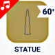 Monument Statue World Architecture Icon Set - Line Animated Icons
