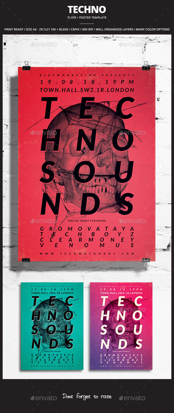 Techno Flyer / Poster 3 - Events Flyers