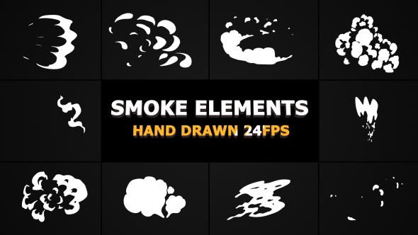 VideoHive 2d FX SMOKE Elements 21241803