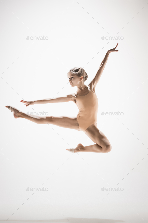 The teen modern ballet dancer - Stock Photo - Images