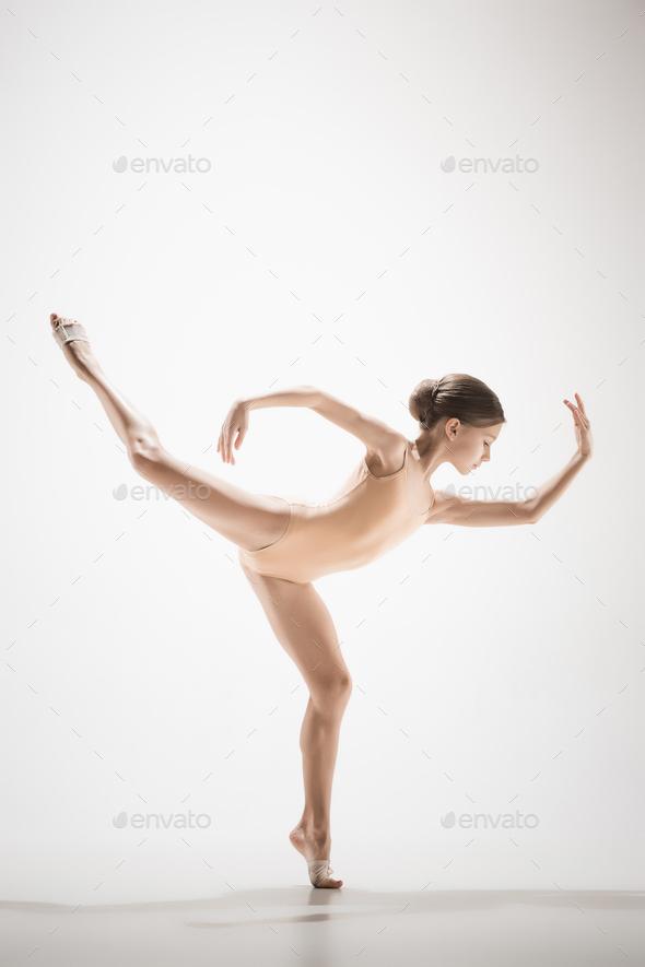 The teen modern ballet dancer - Stock Photo - Images