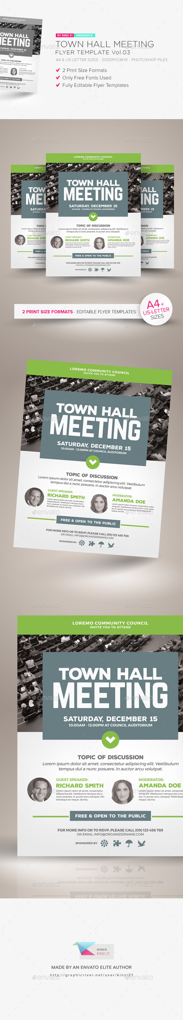 Town Hall Meeting Flyer Vol.03 - Miscellaneous Events