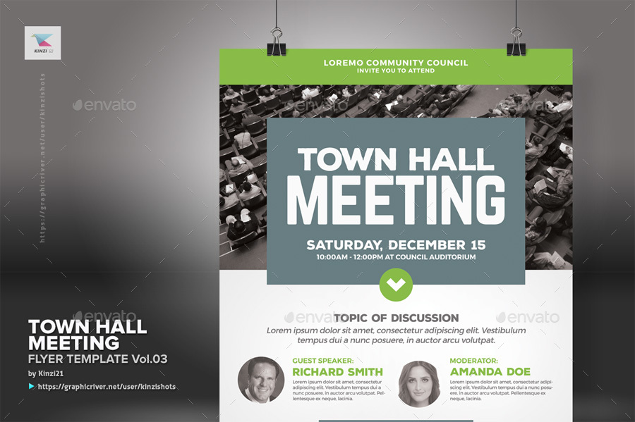 Town Hall Meeting Flyer Vol03 By Kinzishots Graphicriver