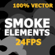 Cartoon Smoke Elements And Transitions