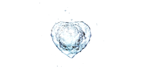 VideoHive Water Splash in the Form of a Heart 21241923