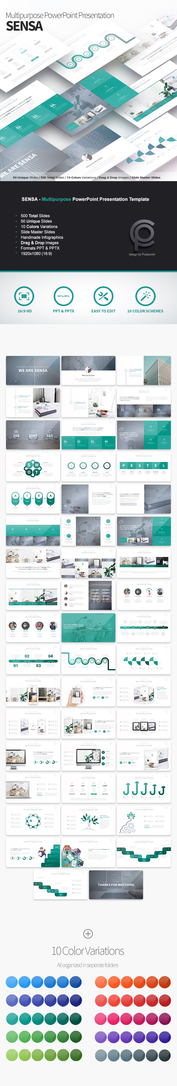 Sensa - Multipurpose PowerPoint Presentation Template - Business PowerPoint Templates