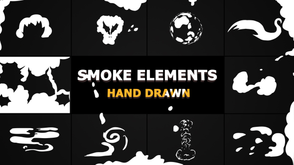 VideoHive Cartoon SMOKE Elements And Transitions 21241950