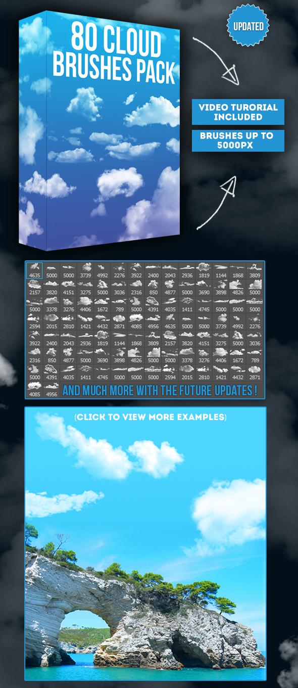80 Cloud Brushes Pack - Brushes Photoshop