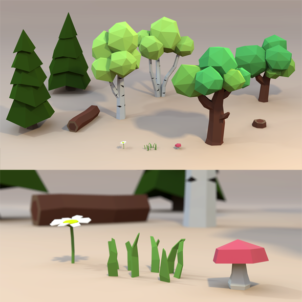 Low-Poly Plant Pack