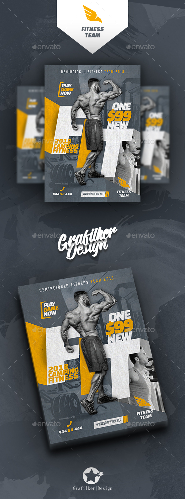 Fitness Time Flyer Templates - Sports Events