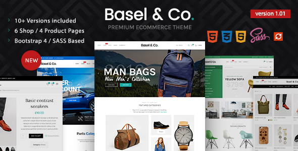 Image of Basel - Multipurpose Ecommerce Bootstrap 4 / SASS HTML Template