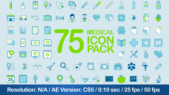 VideoHive Medical Icon Pack 21242488