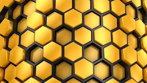 VideoHive Background From Hexagons 21242500