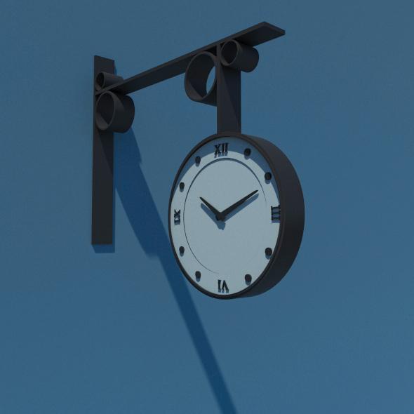 Street Clock - 3DOcean Item for Sale