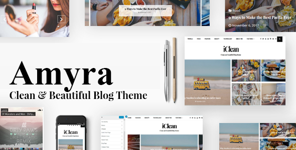 ThemeForest Amyra WordPress Blog Theme 20952977