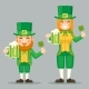 Saint Patrick Leprechaun Cute Gnome Girl Day