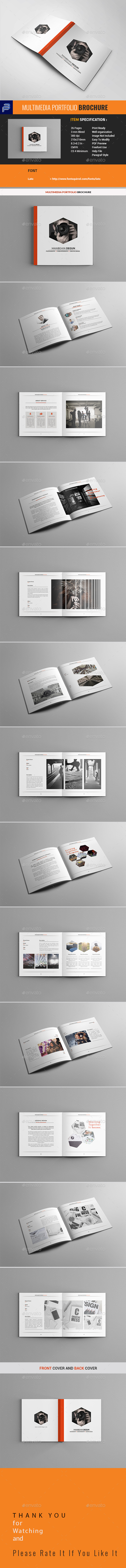 Multimedia Portfolio Brochure - Portfolio Brochures