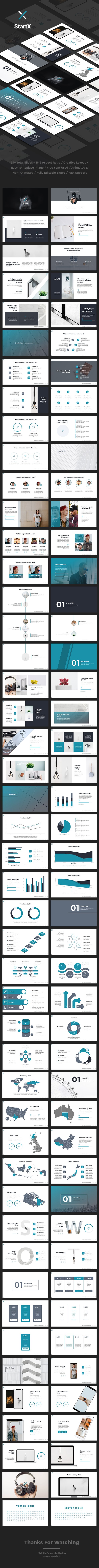StartX - StartUp Pitch Deck Powerpoint Template - Pitch Deck PowerPoint Templates