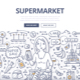 Supermarket Doodle Concept - GraphicRiver Item for Sale