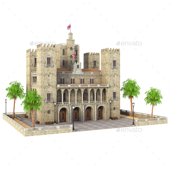 Small Tower Castle - Architecture 3D Renders