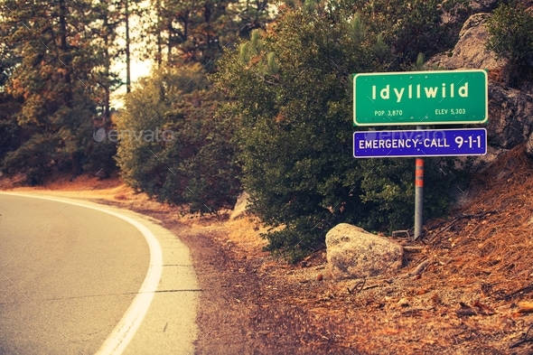Idyllwild City Limits - Stock Photo - Images