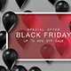 Black Friday Sale Frame With Shiny Balloons - VideoHive Item for Sale