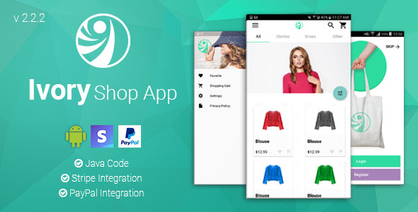 Ivory Shop - Android eCommerce App - CodeCanyon Item for Sale