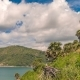 Landscape with Trees, Islands and Blue Sky with Clouds in Phuket, Thailand - VideoHive Item for Sale