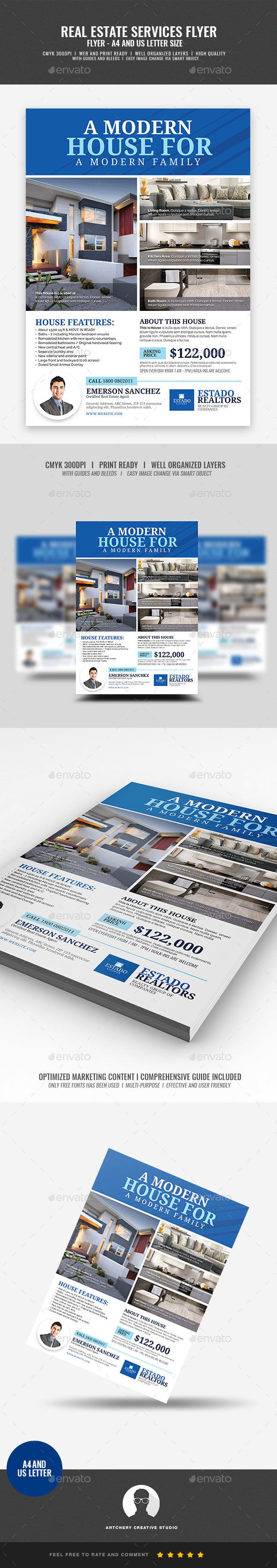 Real Estate Clean Minimal Flyer - Commerce Flyers