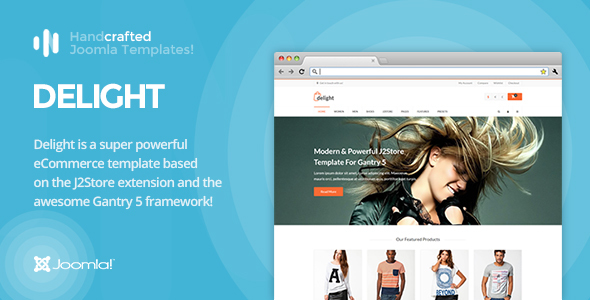 Image of IT Delight - Gantry 5, eCommerce/J2Store Joomla Template