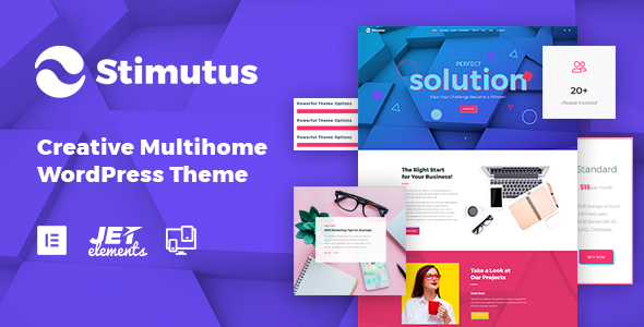 Image of Stimutus - Creative Multihome Elementor Based WordPress Theme