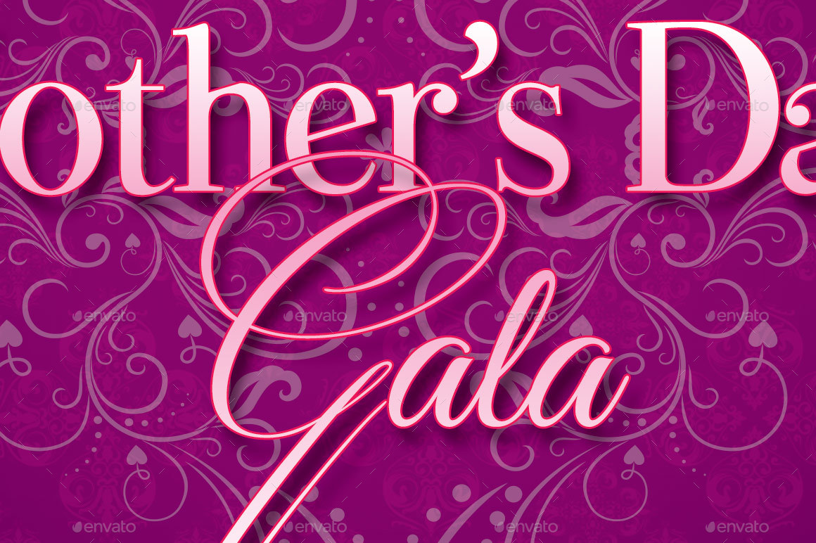 Lavender Mothers Day Gala Program Template by Godserv | GraphicRiver