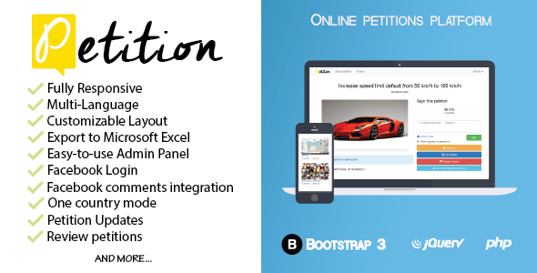 Petitions platform - CodeCanyon Item for Sale