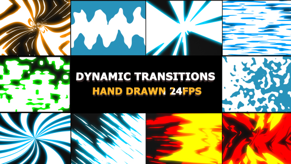 VideoHive Dynamic Elemental Transitions 21243294