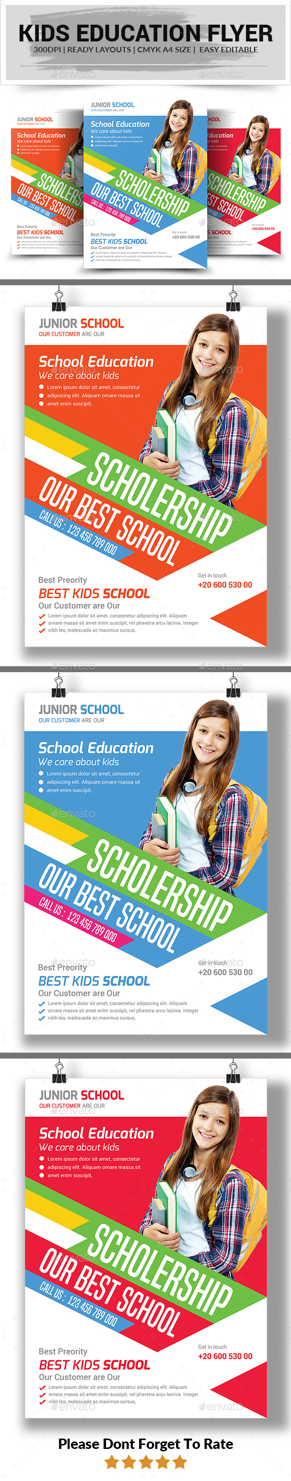 Kids Education Flyer template - Corporate Flyers