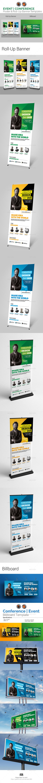 Event | Conference Roll-Up & Billboard Bundle - Signage Print Templates