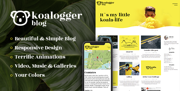 Koalogger - Simple WordPress Blogging Theme + RTL
